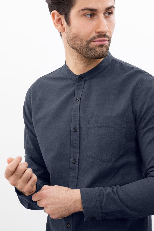 Herren Stehkragenhemd