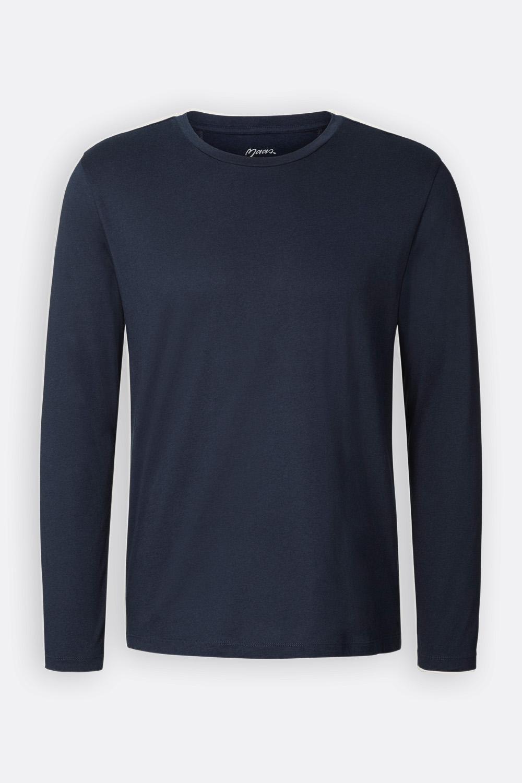 Herren Basic Langarmshirt