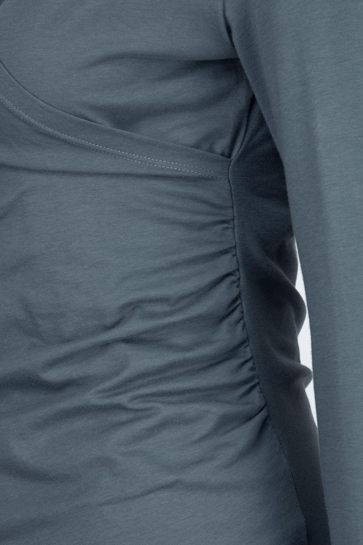 Langarmshirt in Wickeloptik