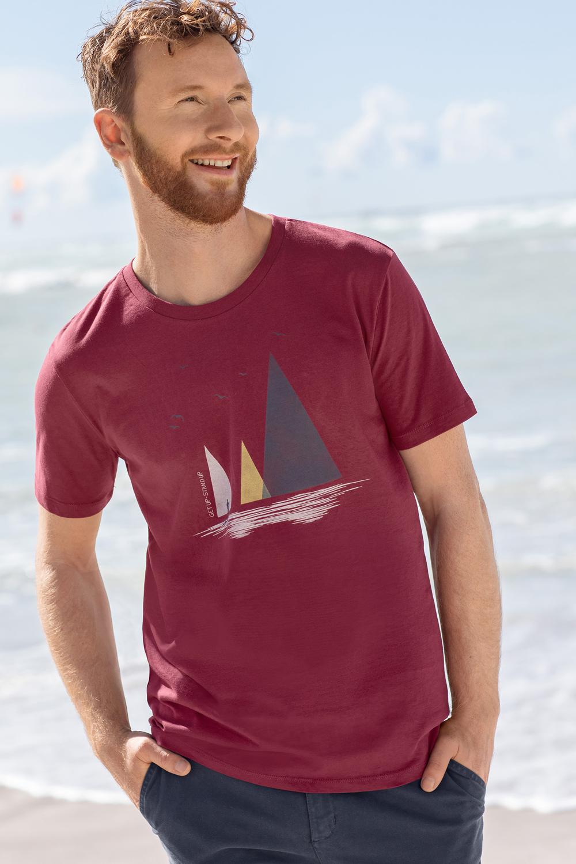 Herren T-Shirt Nature Lake