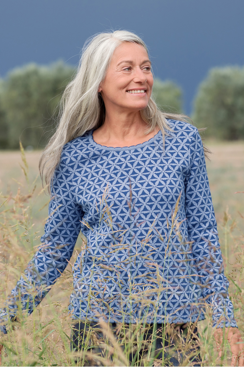 Jacquard Pullover Lilien