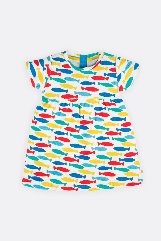 Frottee-Kleid Fische