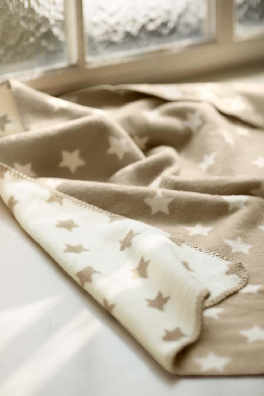 Kuscheldecke Sterne Doubleface