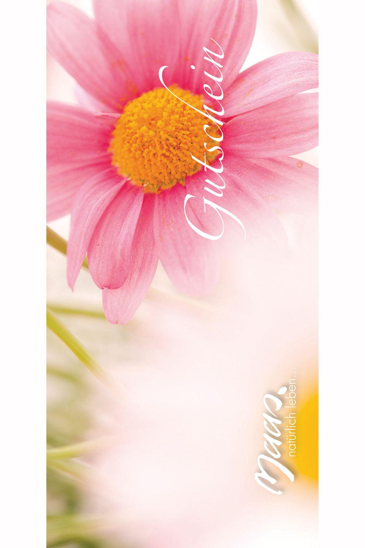 Gutschein rosa Blume
