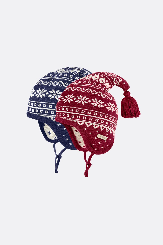 Wolle/Seide/Baumwolle Norweger Mütze