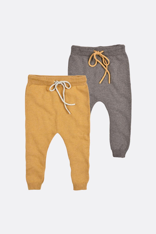 Baumwoll/Woll Strickhose