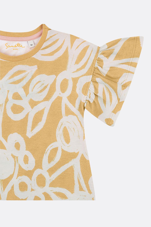 Jerseykleid Blätter
