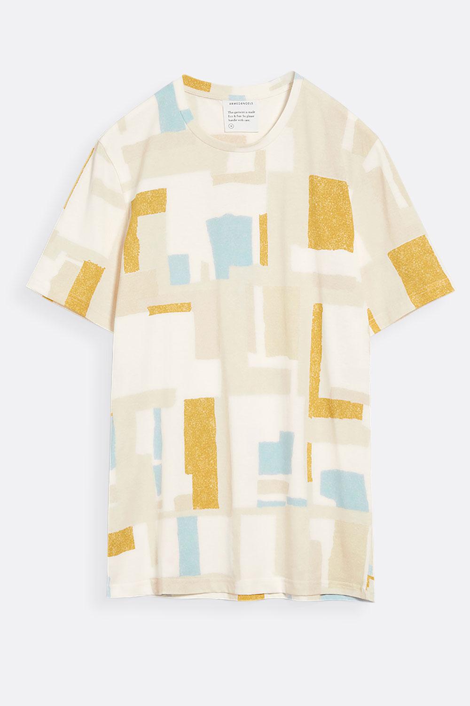 Herren T-Shirt Patchwork