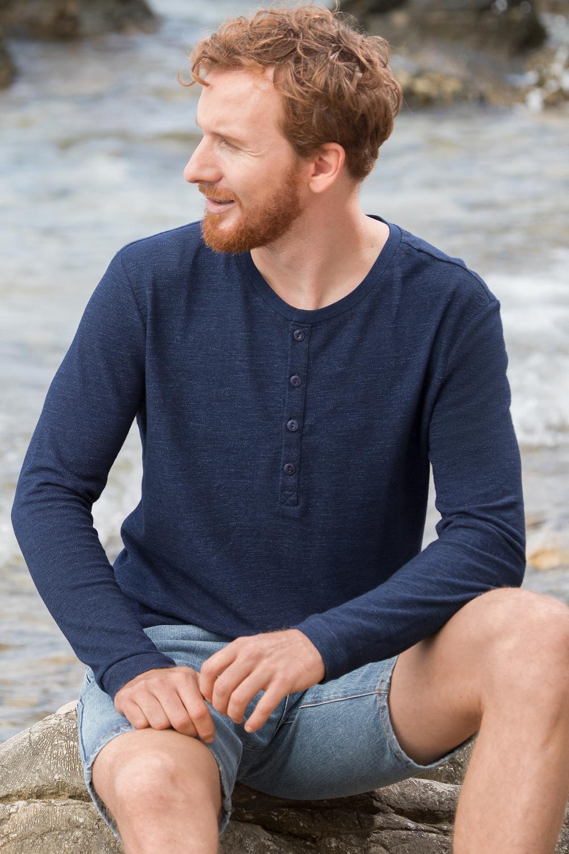 Herren Henleyshirt