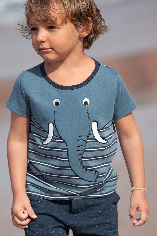 Streifenshirt Elefant/Bagger