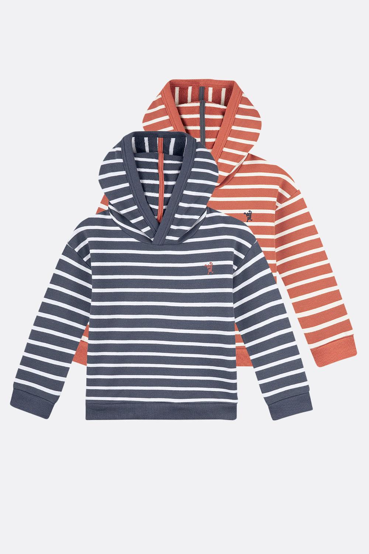 Kapuzen-Sweater, gestreift