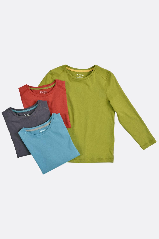 Basic-Langarmshirt, gerade
