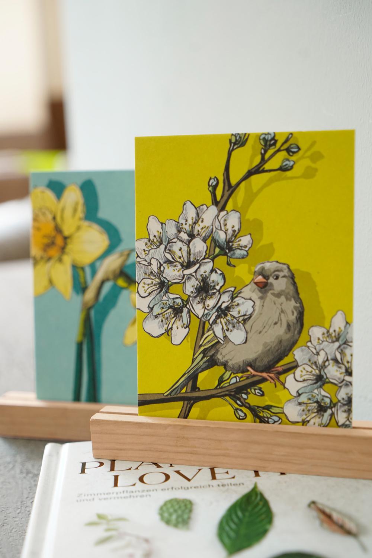 Postkartenständer Holz, 2 er-Set