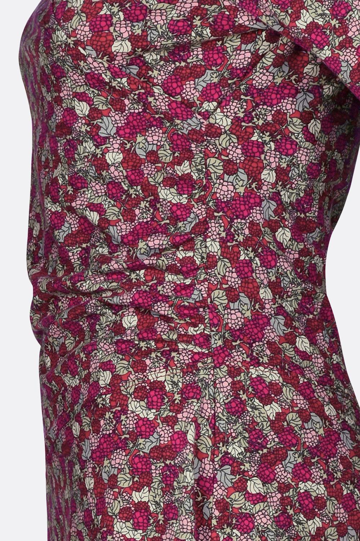 Kleid Brombeer in Wickeloptik