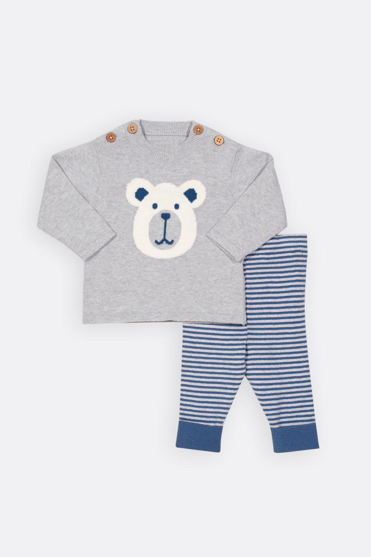 Set: Pulli Eisbär und Ringelhose