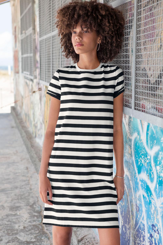 T-Shirt Kleid Ringel
