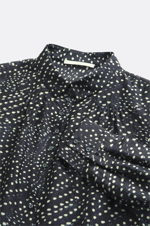 Baumwoll/Seiden-Bluse Punkte