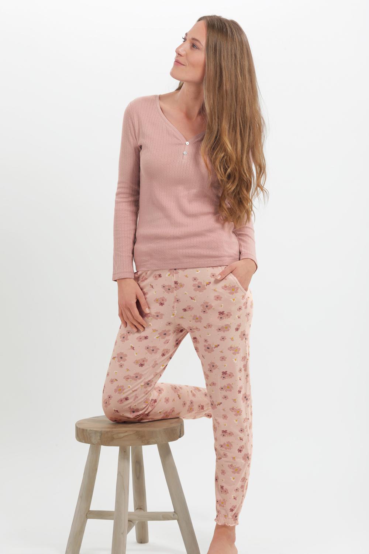 Homewear Hose Blüten