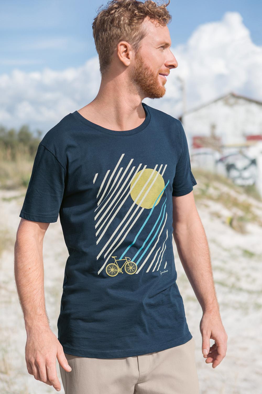 Herren T-Shirt Bike Sunrise
