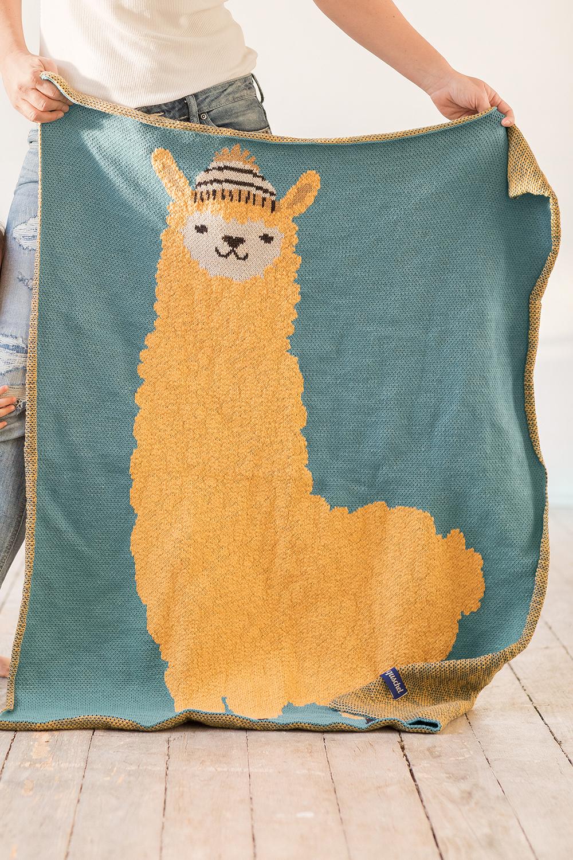 Baumwolldecke Tierkinder