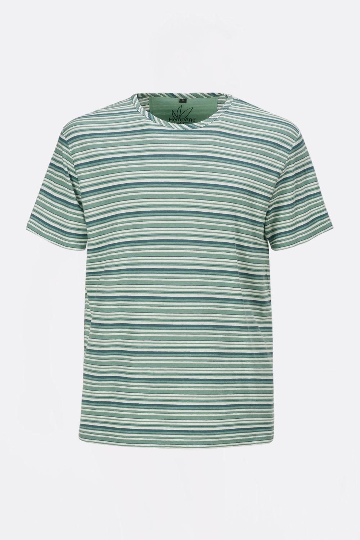 Herren Hanf-Baumwoll Streifenshirt
