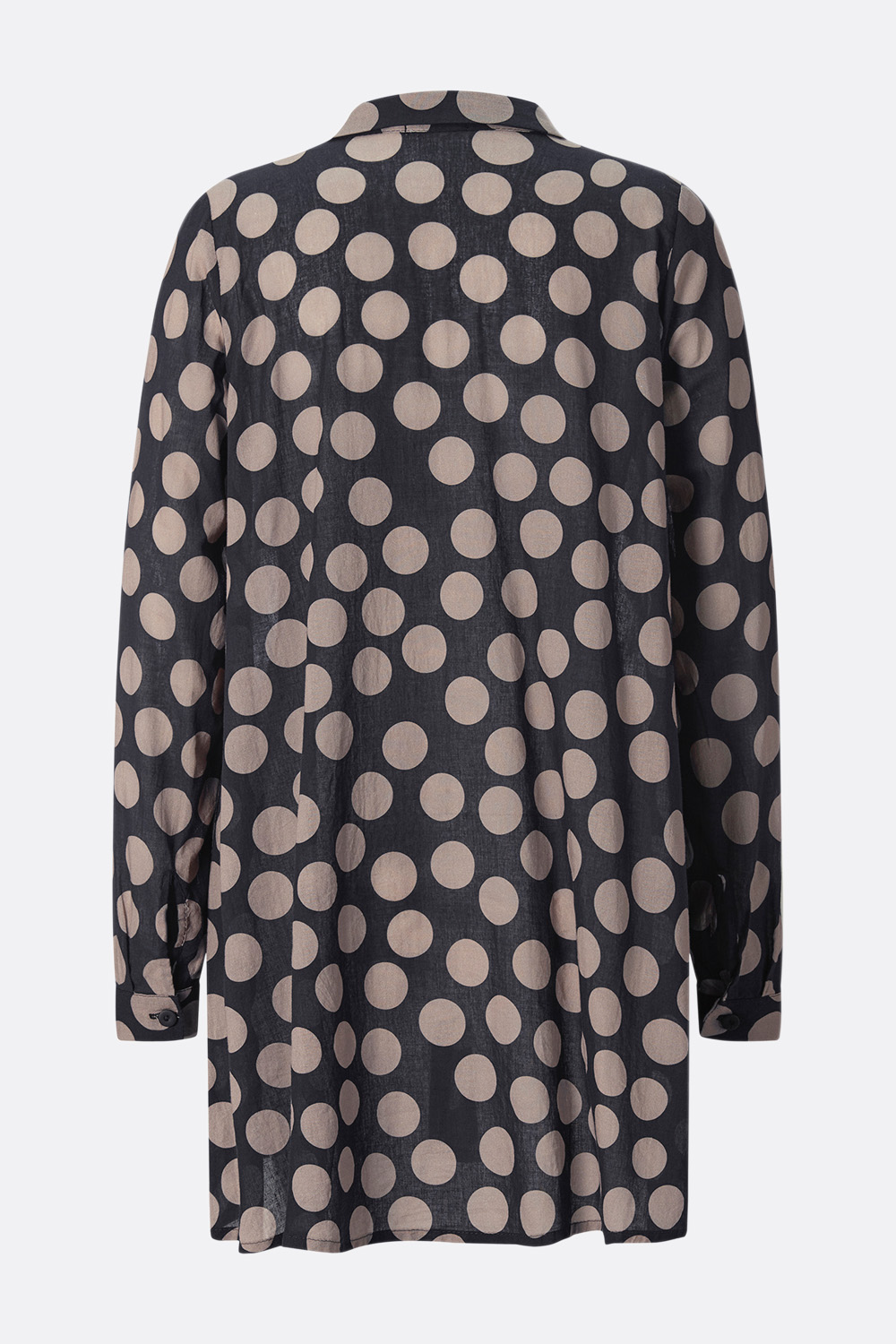 Voile Longbluse Polka Dots