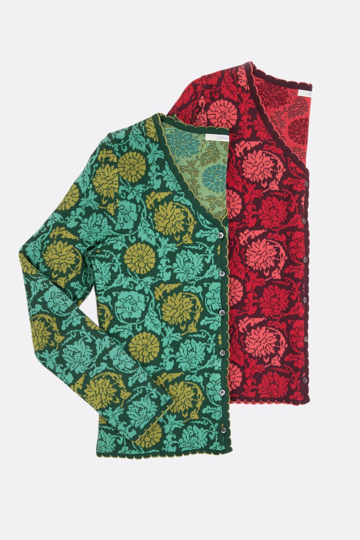 Baumwoll Strickjacke Blüten